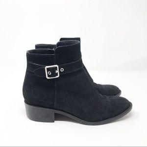 Cole Haan Black Suede Waterproof Ankle Boots 7.5